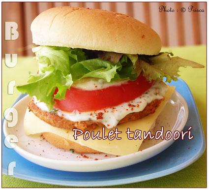 Burger de poulet tandoori